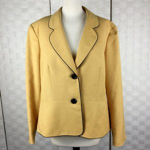 Evan Picone Black Label Jacket, Size 16, Gold